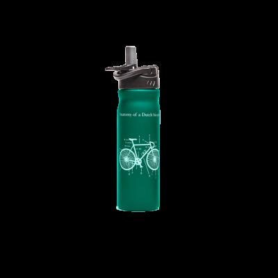 rvs waterfles groen fiets tulper